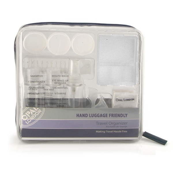 Travel Organiser Bag Clear Toiletries Medication Bottles
